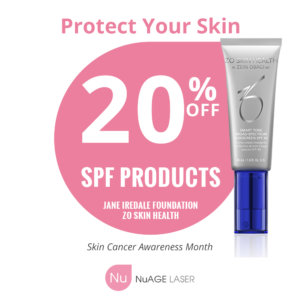 nuage laser spf product promotion